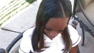 Creampie videos - Horny ebony teen creampied image