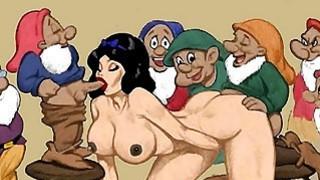 Snowwhite and dwarfs hentai orgy image