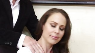 Seductive big titted MILF McKenzie Lee hot office_fuck image