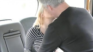 Image: Sexy blond passeger gets her anal pounded by the driver