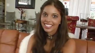 Image: sexy ebony teen girl sucks and fucks
