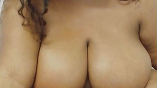 BBW Ebony Plays With Monster Tits And Pussy image