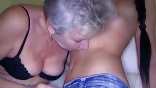 Image: Teen fingering old granny licking pussy