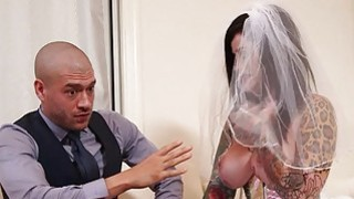Image: Busty emo_in wedding dress deeply banged
