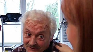 Image: Porn casting for an old man fucking young hot girl