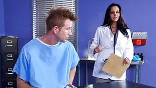 Image: Dr Ava Addams goes on top of Bill Bailey