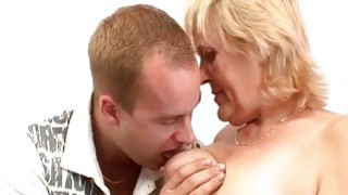 A grandmother is doing it fucked her like this mature blonde slut image