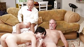 Stunning babe Alex Harper anal fucked by old man image