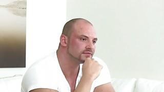 Czech bodybuilder bangs female agent in office image