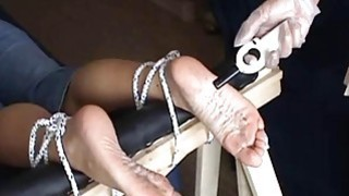 Image: Extreme foot fetish and feet needle bdsm of mature
