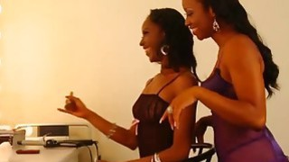 Young Black Lesbians Lick And Finger Pussies In Dressing Room image