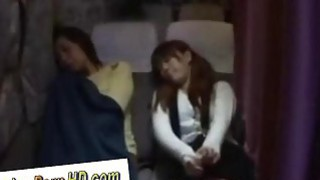 Cute japanese girl was fucked_in the train in front of her mother image
