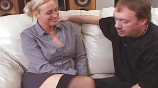 Tall Big Tit Teacher Joey Lynn Fucks Porno Student image