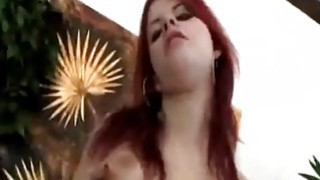Redhead Seduces Guy And Rims His Asshole Before Using Strap-on image