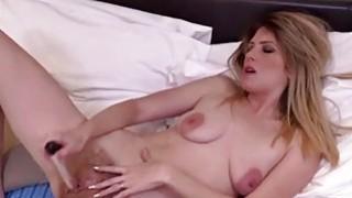 Image: Small titted mature masturbating with dildo