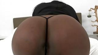 Horny Ebony babe Layton Benton gets fucked by a stiff white dick image