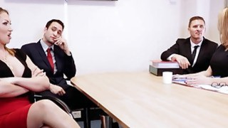 Divorce negotiations turn into hot sex in the office image