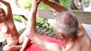 Image: Old granny big tits lesbian His recent interest is yoga_because that