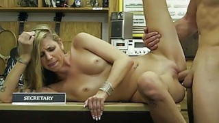 Small tits blond babe nailed by pawn guy fuck image
