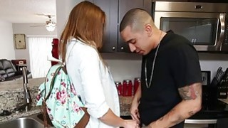 Bruno feeds Kristen Lee his big cock to relieve her stress image
