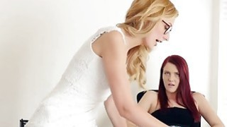 Searing Kiss Leads To Breathtaking Sex Between Young Lesbians Alexa_Grace And Jewels image