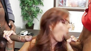 Image: Hot cougar Syren De Mer gets double penetrated