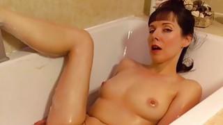 Image: Beautiful mature masturbating in the bathroom
