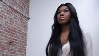 Image: Ebony bombshell Nadia Jay sucks and fucks in glory hole action