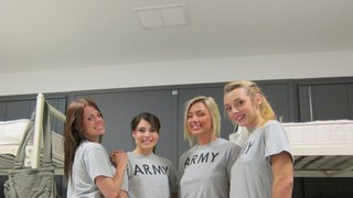 Horny army_girls devouring each other image