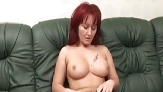 Big titted redhead slut gets fucked by an amputee image