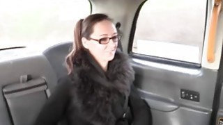 Busty babe with glasses gets pussy_pounded in the cab image