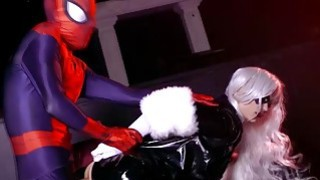 Image: Spidey continues to bang The Black Cats pussy