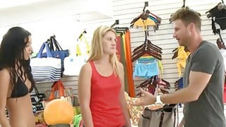 Blondie try out bikini and pounded hard in local store image