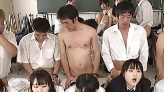 Jav Schoolgirl Gangbang Fucked Finger Squirted In The Classroom A Dozen Cute Teens Outrageous image
