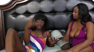 Image: Fine ass black bitches share intimate lesbian sex for the first time