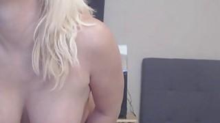 Big Ass Busty Blonde Slut_Fucks And Sucks Dildo image