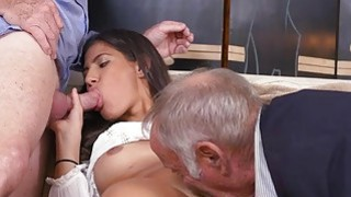 Image: Victoria Valencia fucked  hard by two grannys