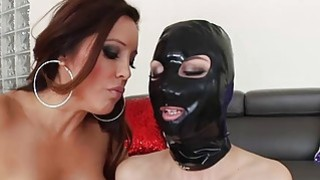 Hot lesbians Francesca Le and Aidra Fox play with strap_on image