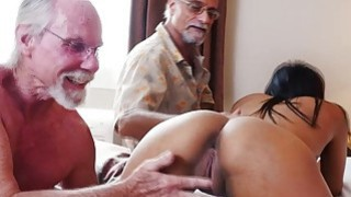 Nikki Kay fucks with a group of horny old guys image