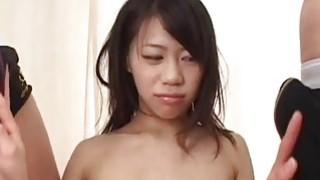 Riku gets her_shaved pussy and tihgt ass filled with thick jizz image