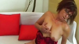 Image: Jana The Cock Sucking And Riding Nerdy Granny
