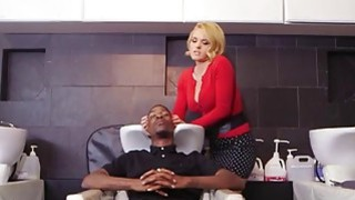 Image: Double penetration for blonde chick interracial