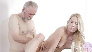 Image: Young playgirl takes old 10pounder in her mouth