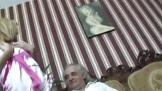 Image: Slutty Blond Sucks Off And Fucks An Old Handicapped Man