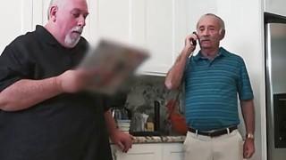Horny Old Man Slips Hard Dick Down Teenage Chick's Throat image