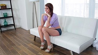 Casting couch show with a naughty babe image