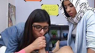 Teen arab babe is willing for cook jerking image