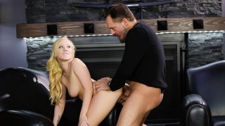 Pounding a sweet tight teen pussy image