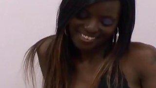 Helpful black lesbian friend sucking pregnant pussy girlfriend opening her hole image