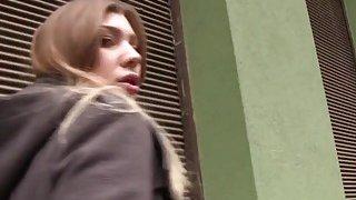 Image: Perfect Euro blonde bangs in public